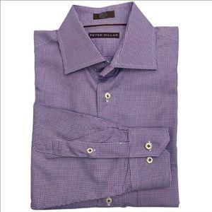 Peter Millar Gingham Plaid Dress Shirt